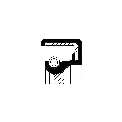CORTECO Shaft Seal, manual transmission 01026708B