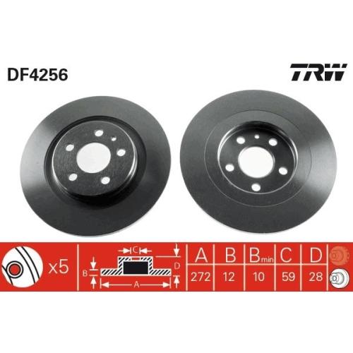 TRW Brake Disc DF4256