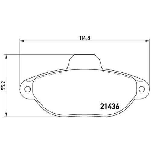 Bremsbelagsatz, Scheibenbremse BREMBO P 23 160 FIAT