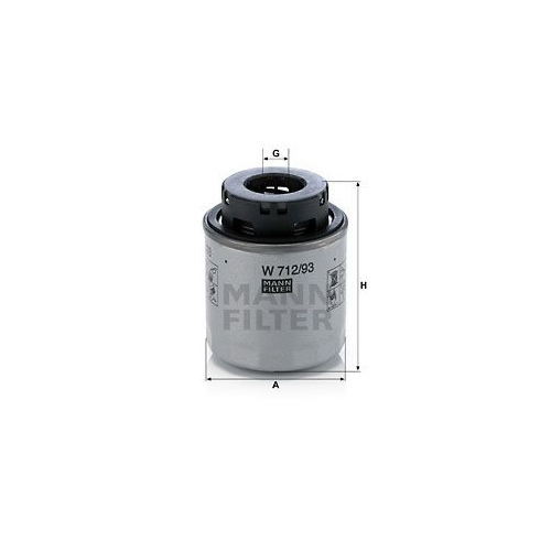 Oil Filter MANN-FILTER W 712/93 VAG
