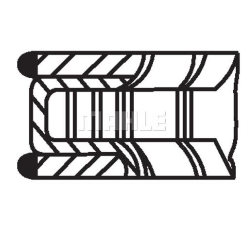 Kolbenringsatz MAHLE 011 RS 00101 0N1