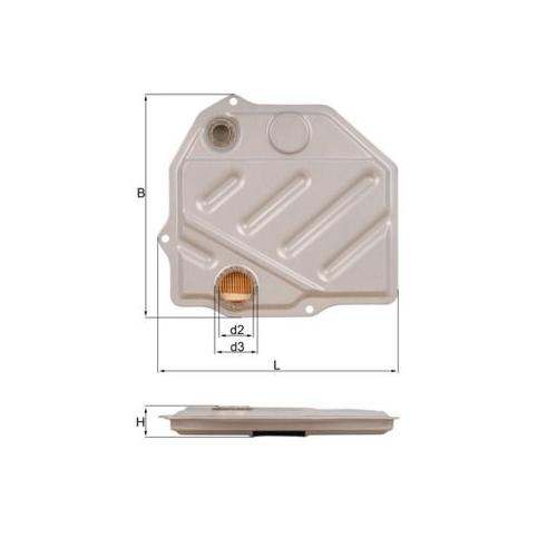 MAHLE ORIGINAL Hydraulic Filter, automatic transmission HX 46