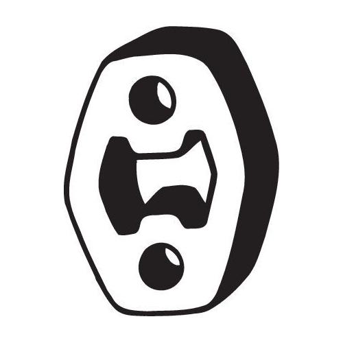 Gummistreifen, Abgasanlage BOSAL 255-047 AUDI FORD SEAT SKODA VW