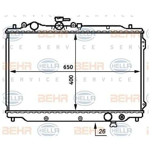 HELLA Radiator, engine cooling 8MK 376 706-711