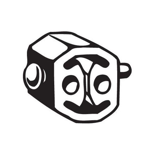 Gummistreifen, Abgasanlage BOSAL 255-842 MERCEDES-BENZ