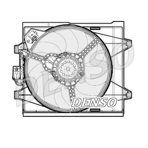 Lüfter, Motorkühlung DENSO DER09048 FIAT FORD