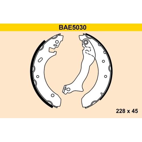 Bremsbackensatz BARUM BAE5030 FORD
