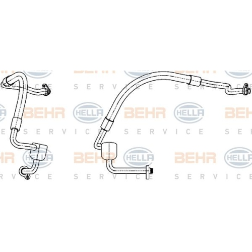 Low Pressure Line, air conditioning HELLA 9GS 351 338-551 FORD