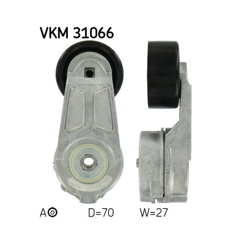Spannrolle, Keilrippenriemen SKF VKM 31066 VW