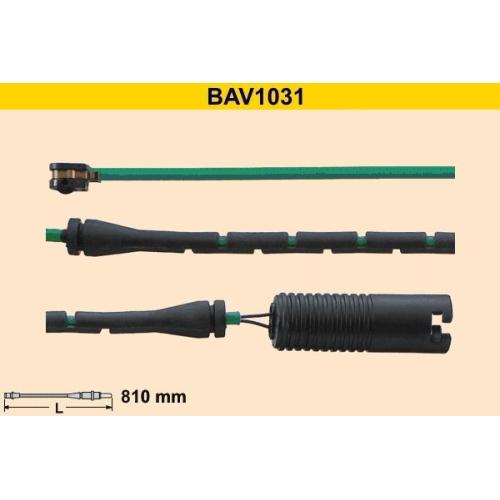 Warning Contact, brake pad wear BARUM BAV1031 BMW