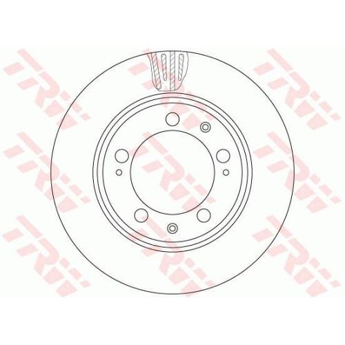 Brake Disc TRW DF6484S PORSCHE