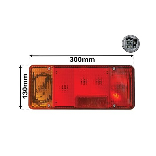 Combination Rearlight VAN WEZEL 2810925 IVECO
