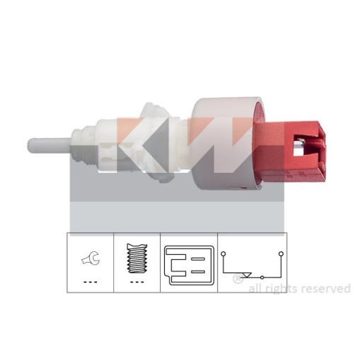 Switch, clutch control (cruise control) KW 510 248 Made in Italy - OE Equivalent