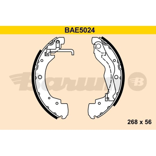 Bremsbackensatz BARUM BAE5024 VAG