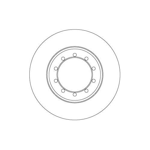 Brake Disc TRW DF6711 FORD