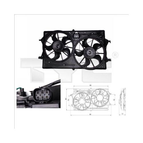 Fan, radiator TYC 810-0019 FORD