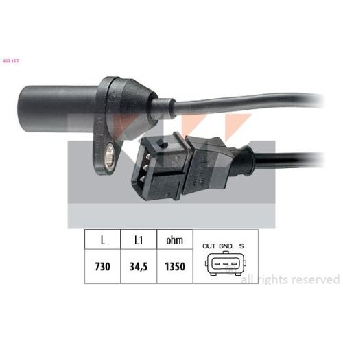 Impulsgeber, Kurbelwelle KW 453 157 Made in Italy - OE Equivalent