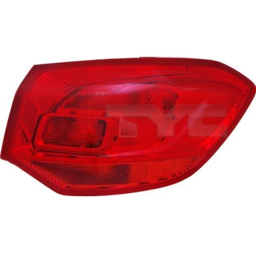 Combination Rearlight TYC 11-11876-01-2 OPEL