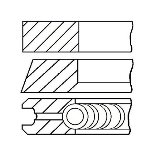 Piston Ring Kit GOETZE ENGINE 08-114900-00 VAG