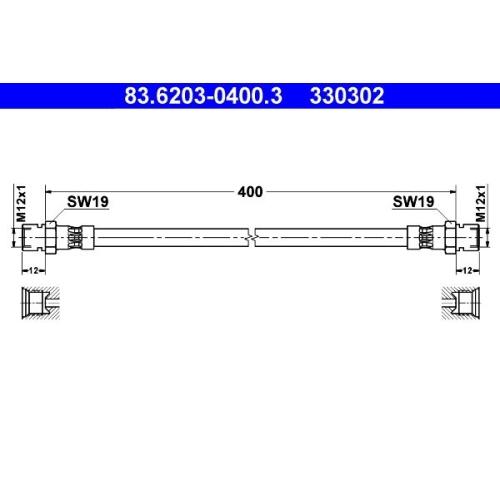 Bremsschlauch ATE 83.6203-0400.3 MAGIRUS-DEUTZ STEYR