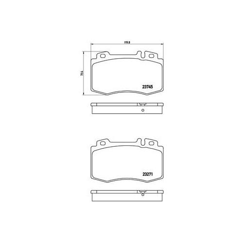 Bremsbelagsatz, Scheibenbremse BREMBO P 50 053 MERCEDES-BENZ