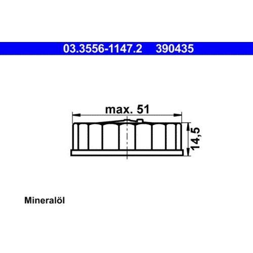 Verschluss, Bremsflüssigkeitsbehälter ATE 03.3556-1147.2 FORD