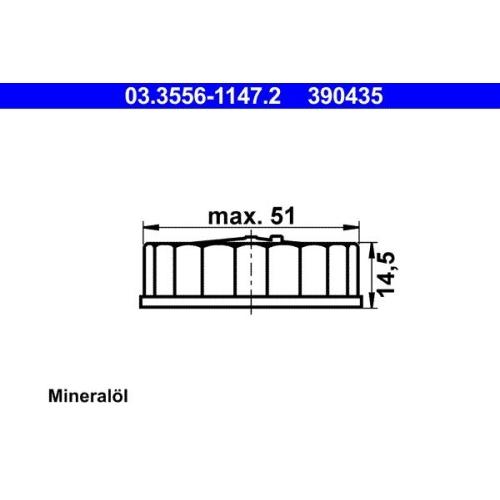 Sealing Cap, brake fluid reservoir ATE 03.3556-1147.2 FORD