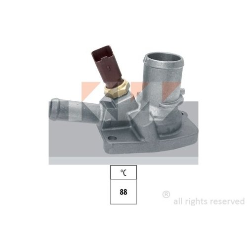 Thermostat, coolant KW 580 699 Made in Italy - OE Equivalent CHRYSLER FIAT FORD