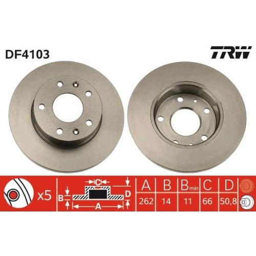 TRW Brake Disc DF4103