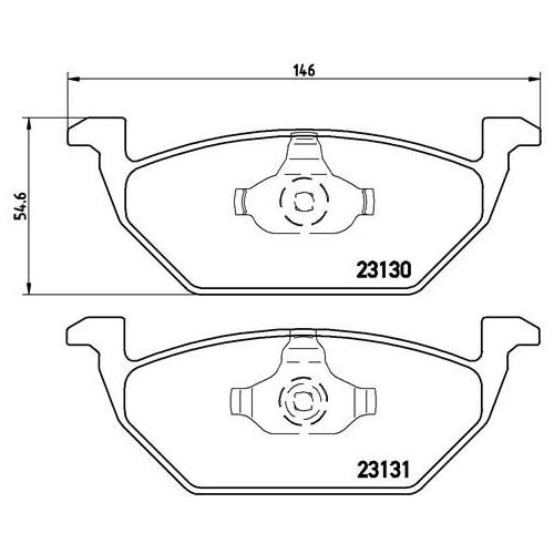 BREMBO Brake Pad Set P 85 041X