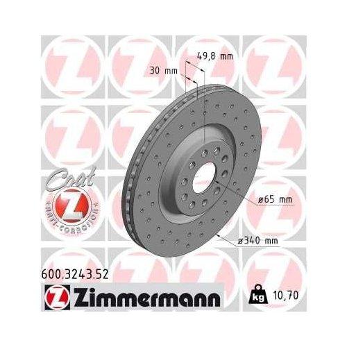 ZIMMERMANN Brake Disc 600.3243.52