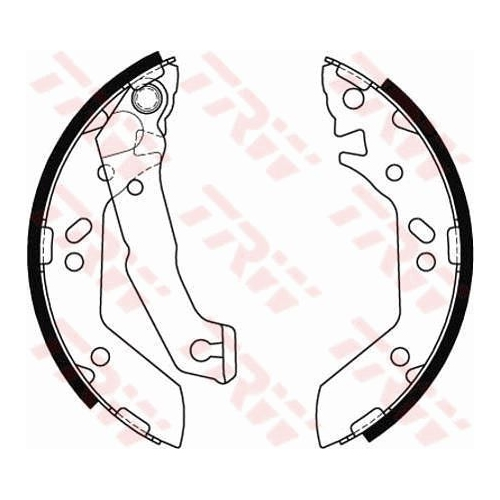 Brake Shoe Set TRW GS8684 HYUNDAI