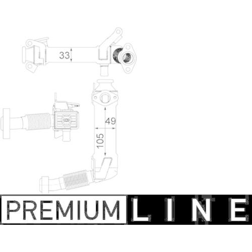Cooler, exhaust gas recirculation MAHLE CE 21 000P BEHR *** PREMIUM LINE *** BMW