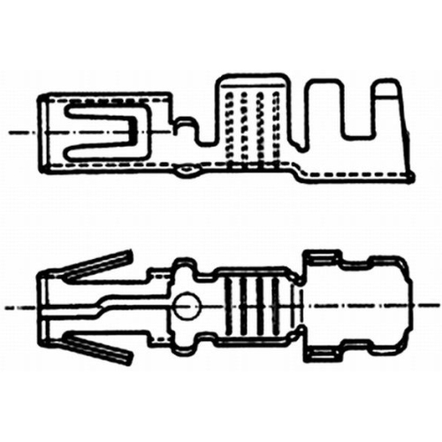 Cable Connector HELLA 8KW 054 948-003 MERCEDES-BENZ