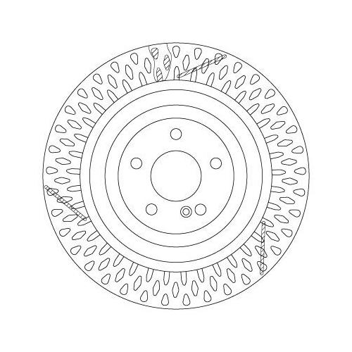 TRW Brake Disc DF6822S
