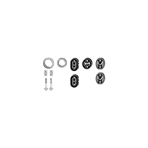 Mounting Kit, exhaust system HJS 82 43 8018