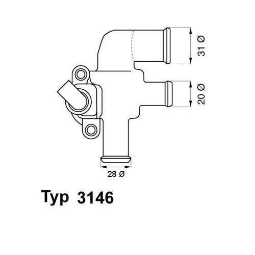 WAHLER Thermostat 3146.90D