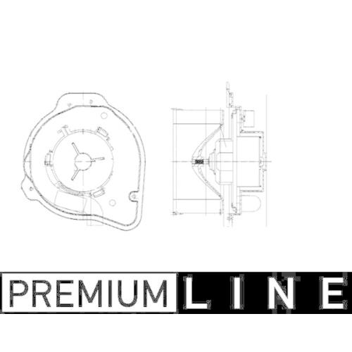 Innenraumgebläse MAHLE AB 58 000P BEHR *** PREMIUM LINE *** VOLVO