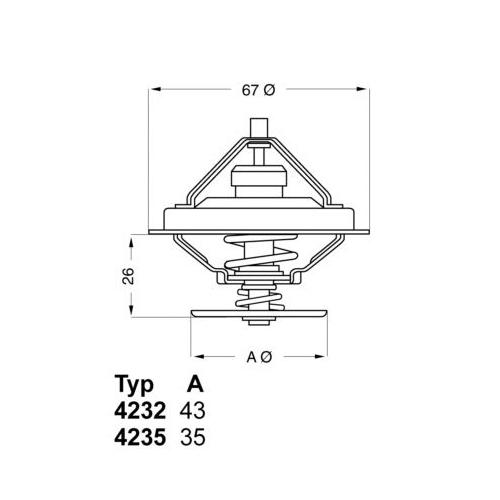 Thermostat, coolant BorgWarner (Wahler) 4232.80D BMW