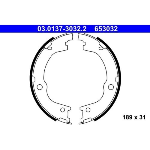 ATE Brake Shoe Set, parking brake 03.0137-3032.2