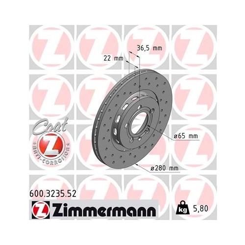 ZIMMERMANN Brake Disc 600.3235.52