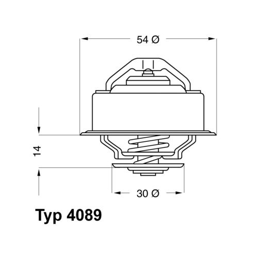 Thermostat, coolant BorgWarner (Wahler) 4089.87D VOLVO