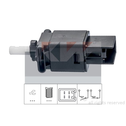 Brake Light Switch KW 510 272 Made in Italy - OE Equivalent MAZDA