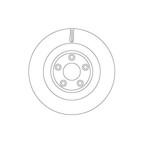 Brake Disc TRW DF6816S JAGUAR