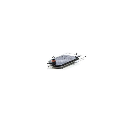 Hydraulic Filter, automatic transmission MANN-FILTER H 2826 KIT VAG