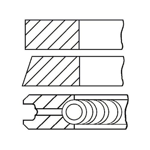 Piston Ring Kit GOETZE ENGINE 08-425600-00 ALFA ROMEO FIAT OPEL VAUXHALL