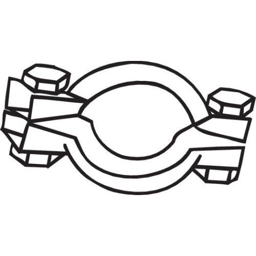 Klemmstück, Abgasanlage BOSAL 254-952 CITROËN FIAT PEUGEOT MINI