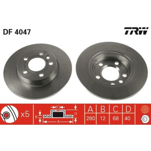 TRW Brake Disc DF4047
