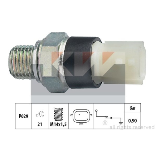 Oil Pressure Switch KW 500 179 Made in Italy - OE Equivalent RENAULT DACIA