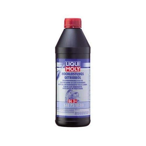 LIQUI MOLY Gear oil HIGH PERFORMANCE GEAR OIL (GL3 +) SAE 75W-80 1 liter 4427